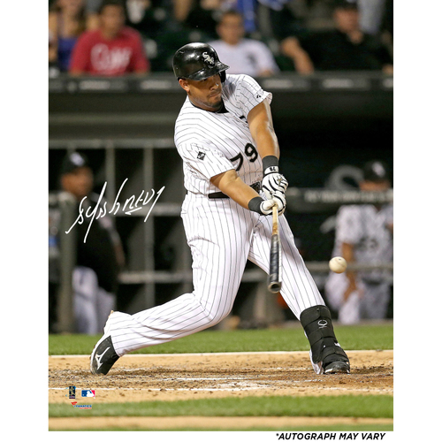 "Photo of Jose Abreu Chicago White Sox Autographed 16"" x 20"" Hitting Ball Photograph"