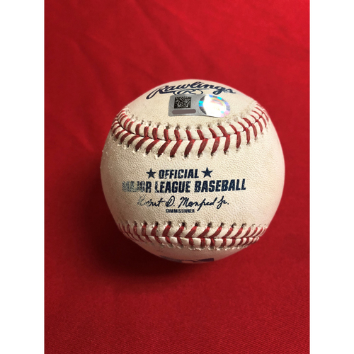 Game-Used Baseball: Trea Turner Single, Bryce Harper Strikeout, Anthony Rendon Double, Mark Reynolds Ground Out, Juan Soto Double