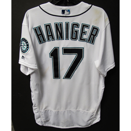 Photo of Mitch Haniger Game-Used White Jersey - July 7, 2018