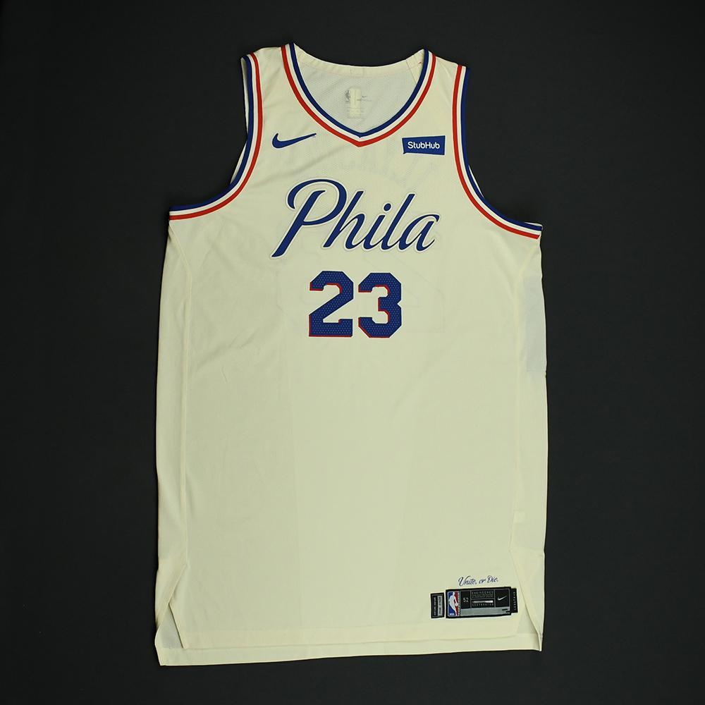 Ersan Ilyasova - Philadelphia 76ers - Game-Worn 'City' Jersey - 2017-18 Season