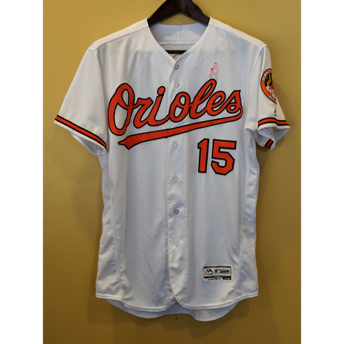 Photo of Chance Sisco Game-Used Mother's Day Jersey Worn on May 13, 2018 vs Tampa Bay. Size 46.