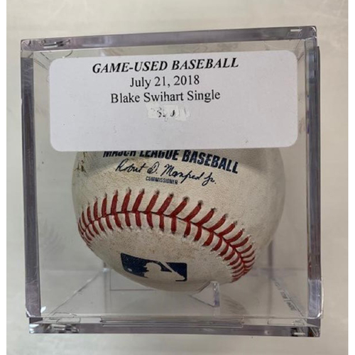 Photo of Game-Used Baseball: Blake Swihart Single