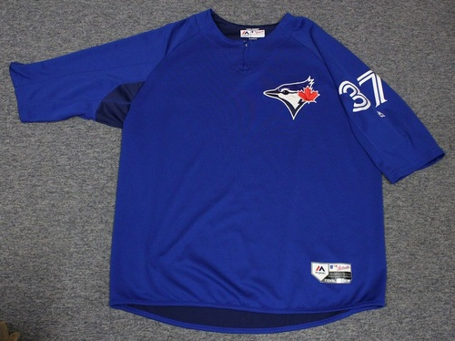 Photo of Authenticated Team Issued Batting Practice Jersey - #37 Teoscar Hernandez. Size XXL.