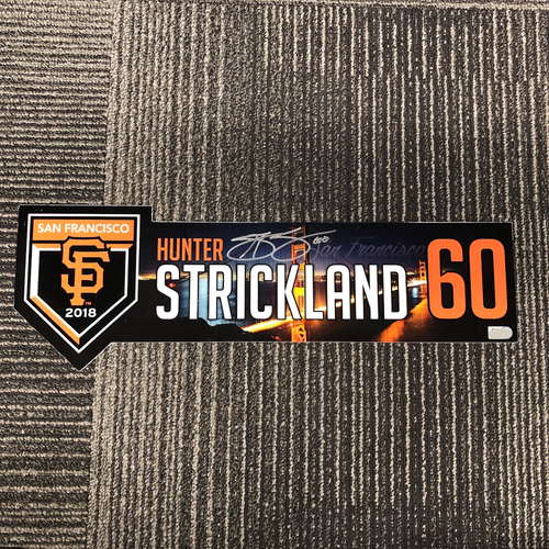 Photo of 2018 Autographed Regular Season Locker Tag - #60 Hunter Strickland