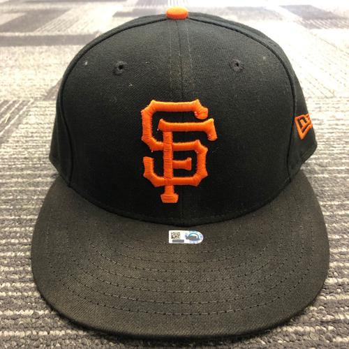 Photo of 2018 Game Used Regular Season Cap worn by 3x All Star Evan Longoria on 5/29 @ COL - Size 7 1/8
