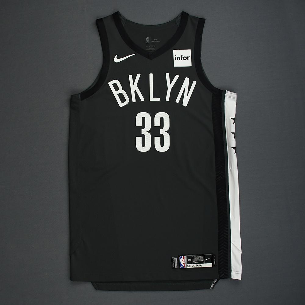 Allen Crabbe - Brooklyn Nets - 2018-19 Season - Game-Worn Gray Statement Edition Jersey