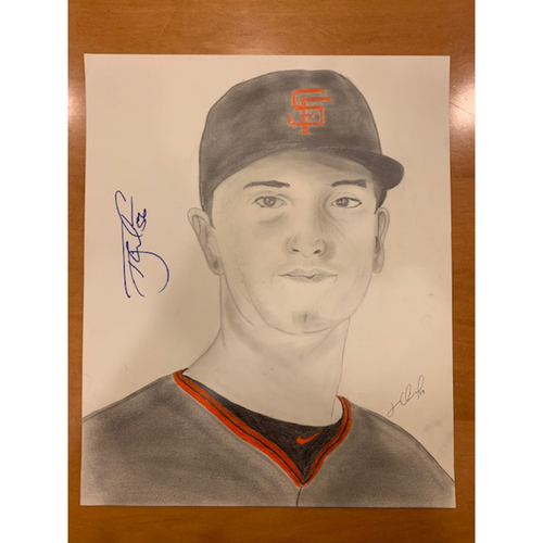 Photo of Giants End of Season Auction: Tony Watson Autographed Portrait Sketch