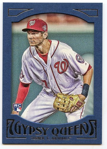 Photo of 2016 Topps Gypsy Queen Framed Blue #64 Trea Turner