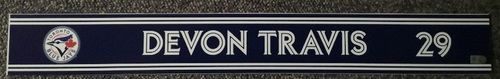 Photo of Authenticated Game Used Locker Name Plate - #29 Devon Travis (Sept 24, 18)