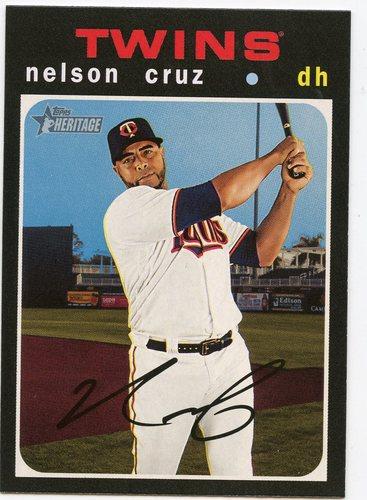 Photo of 2020 Topps Heritage #186 Nelson Cruz