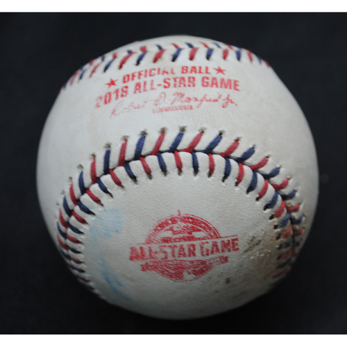 Photo of 2018 All-Star Game (7/17/2018) - Game-Used Baseball - Top 3rd, Pitcher - Jacob deGrom, Batters - Mookie Betts (Boston Red Sox)/Jose Altuve (Houston Astros) - Flyout/Swinging Strike