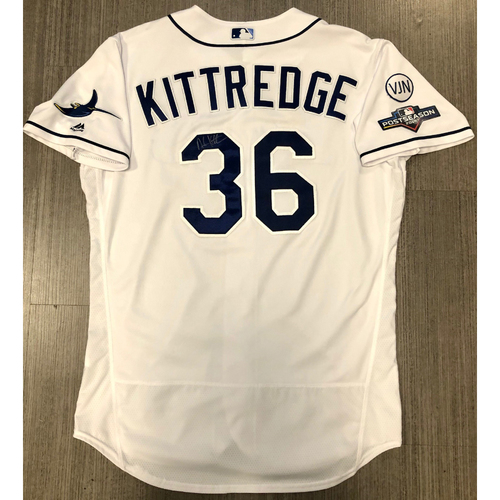 Photo of Team Issued Autographed Jersey: Andrew Kittredge