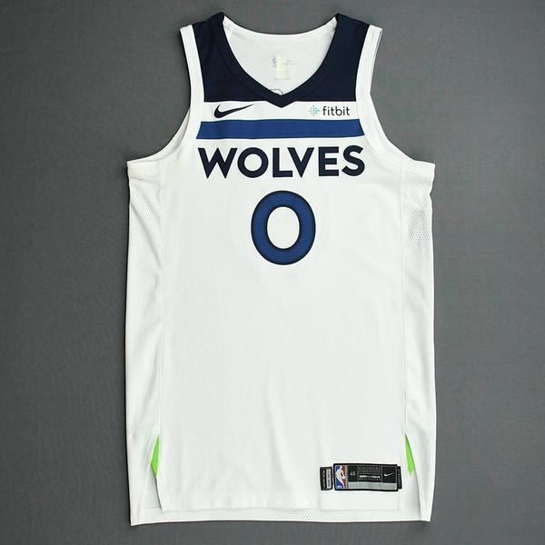 Image of Jeff Teague - Minnesota Timberwolves - NBA China Games - Game-Worn Association Edition Jersey - 2017-18 NBA Preseason