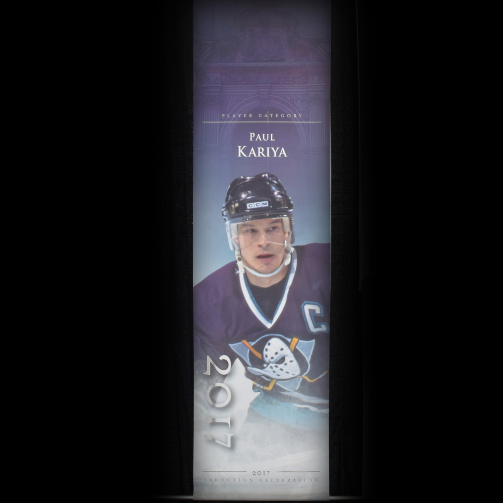 Paul Kariya Book Signing Stage Banner - 2017 Induction Weekend - Limited Edition 1/1