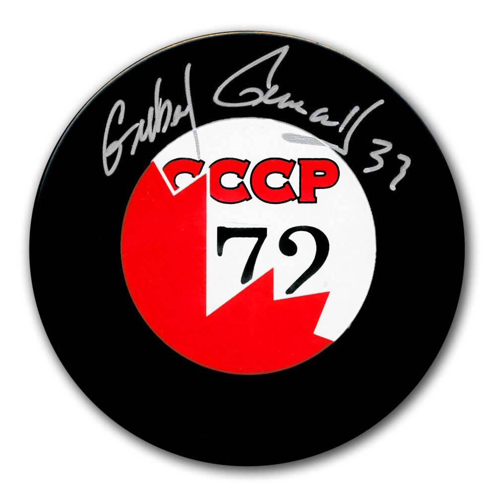 Gilbert Perreault Team Canada 1972 Summit Series Autographed Puck