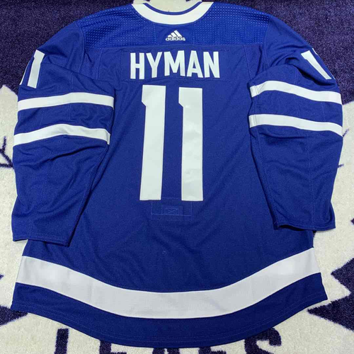 #11 Zach Hyman Game Issued Jersey (Blue 56)