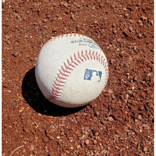 Photo of 2021 Game-Used Baseball - Trea Turner Final Hit with Nationals