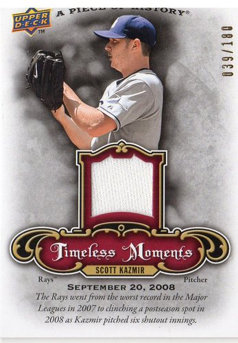 Photo of 2009 UD A Piece of History Timeless Moments Jersey Red #TMSK Scott Kazmir