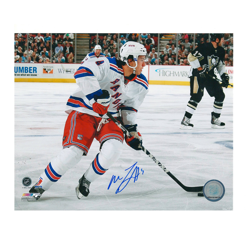 MICHAEL DEL ZOTTO Signed New York Rangers 8 X 10 Photo - 70471