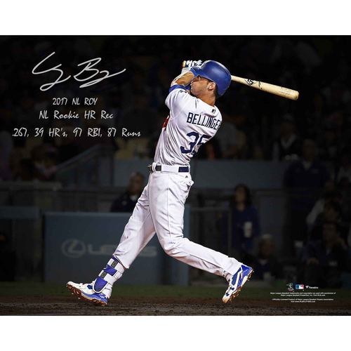"Photo of Cody Bellinger Los Angeles Dodgers Autographed 16"" x 20"" Photo with Multiple Rookie Year Inscriptions - L.E. of 35"