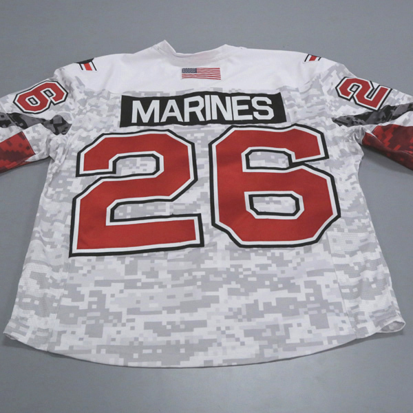 "Photo of Ohio State Ice Hockey Military Appreciation Jersey #26 ""MARINES"" / Size 54 (C)"