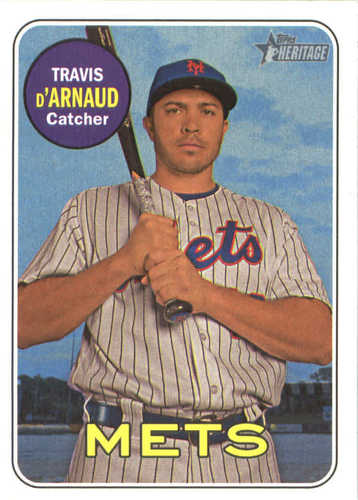 Photo of 2018 Topps Heritage #144 Travis d'Arnaud