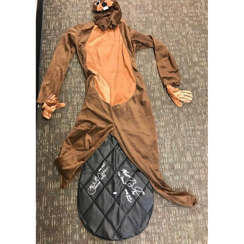 Photo of Autographed Beaver Costume: Matt Boyd and James McCann