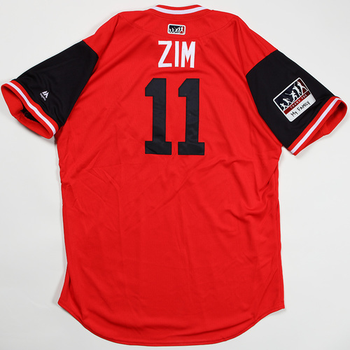 "Photo of Ryan ""Zim"" Zimmerman Washington Nationals Game-Used Jersey 2018 Players' Weekend Jersey"