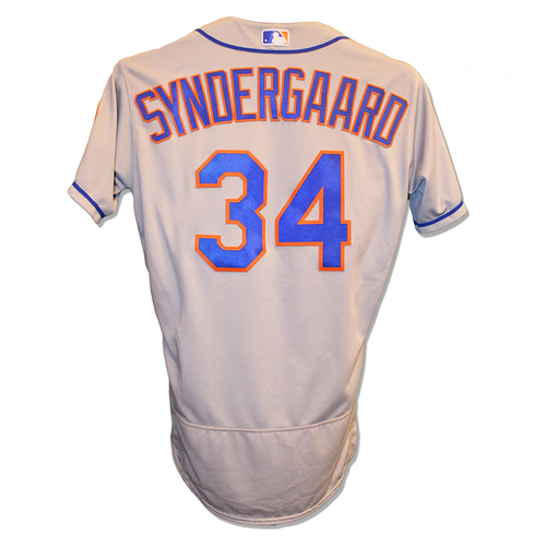 Photo of Noah Syndergaard #34 - Team Issued Road Grey Jersey - 2018 Season
