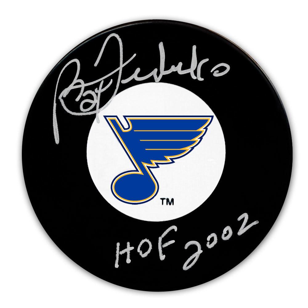 Bernie Federko St. Louis Blues HOF Autographed Puck