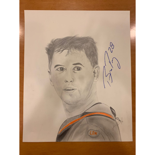 Photo of Giants End of Season Auction: Buster Posey Autographed Portrait Sketch