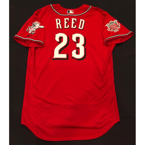 "Photo of Cody Reed -- Team-Issued ""Los Rojos"" Jersey -- D-backs vs. Reds on 9/6/19 -- Jersey Size 48"