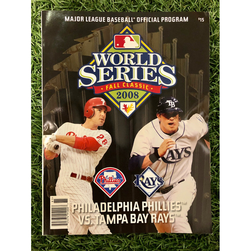 Photo of Rays Baseball Foundation: 2008 World Series Official Program - Tampa Bay Rays v Philadelphia Phillies