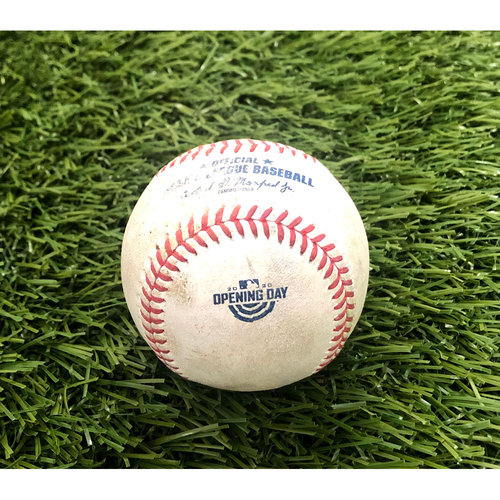 Photo of 2020 Opening Day: Game-Used Baseball: Aaron Judge Single