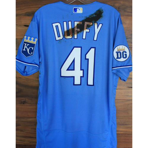 Photo of Alex's Lemonade Stand Foundation: Game-Used Danny Duffy  Jersey (Size 44 - 9/26/20 DET @ KC)