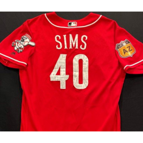 Photo of SIMS -- Authentic Reds Jersey -- $1 Jersey Auction -- $5 Shipping -- Size 46 (Not MLB Authenticated)