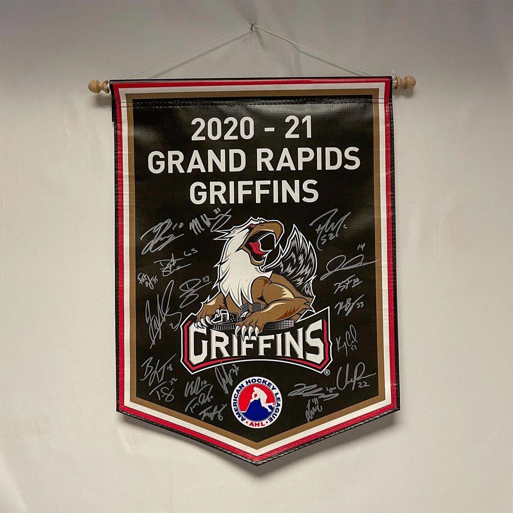 2020-21 Grand Rapids Griffins Team-Signed Banner