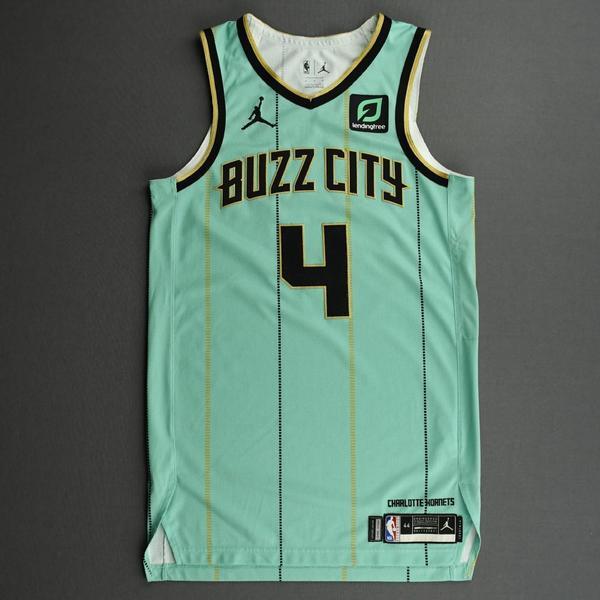 Charlotte Hornets #4 Devonte' Graham NEWCity Edition Swingman Jersey