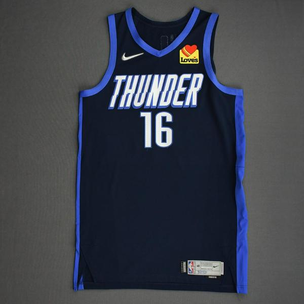 Image of Ty Jerome - Oklahoma City Thunder - Game-Worn Earned Edition Jersey - 2020-21 NBA Season