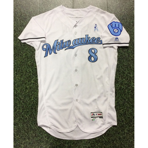 Photo of Ryan Braun 2017 Team-Issued Father's Day Tribute Jersey
