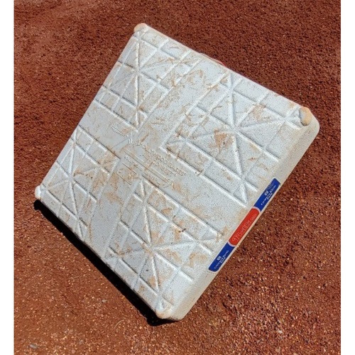 Photo of 2021 Game-Used Base - Bryce Harper Inside-the-Park Home Run