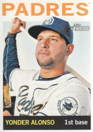 Photo of 2013 Topps Heritage #252 Yonder Alonso