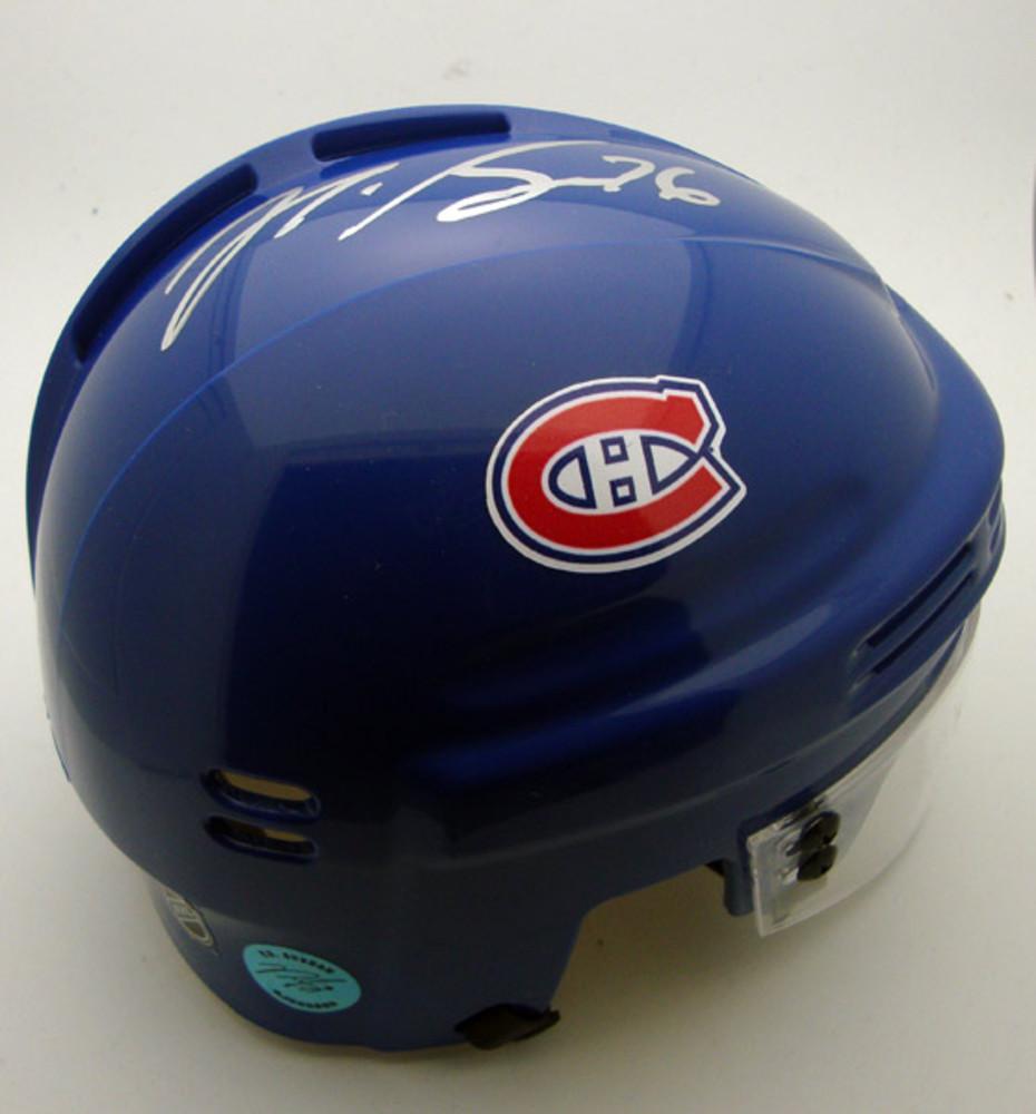 P.K. Subban Montreal Canadiens Autographed Mini Helmet
