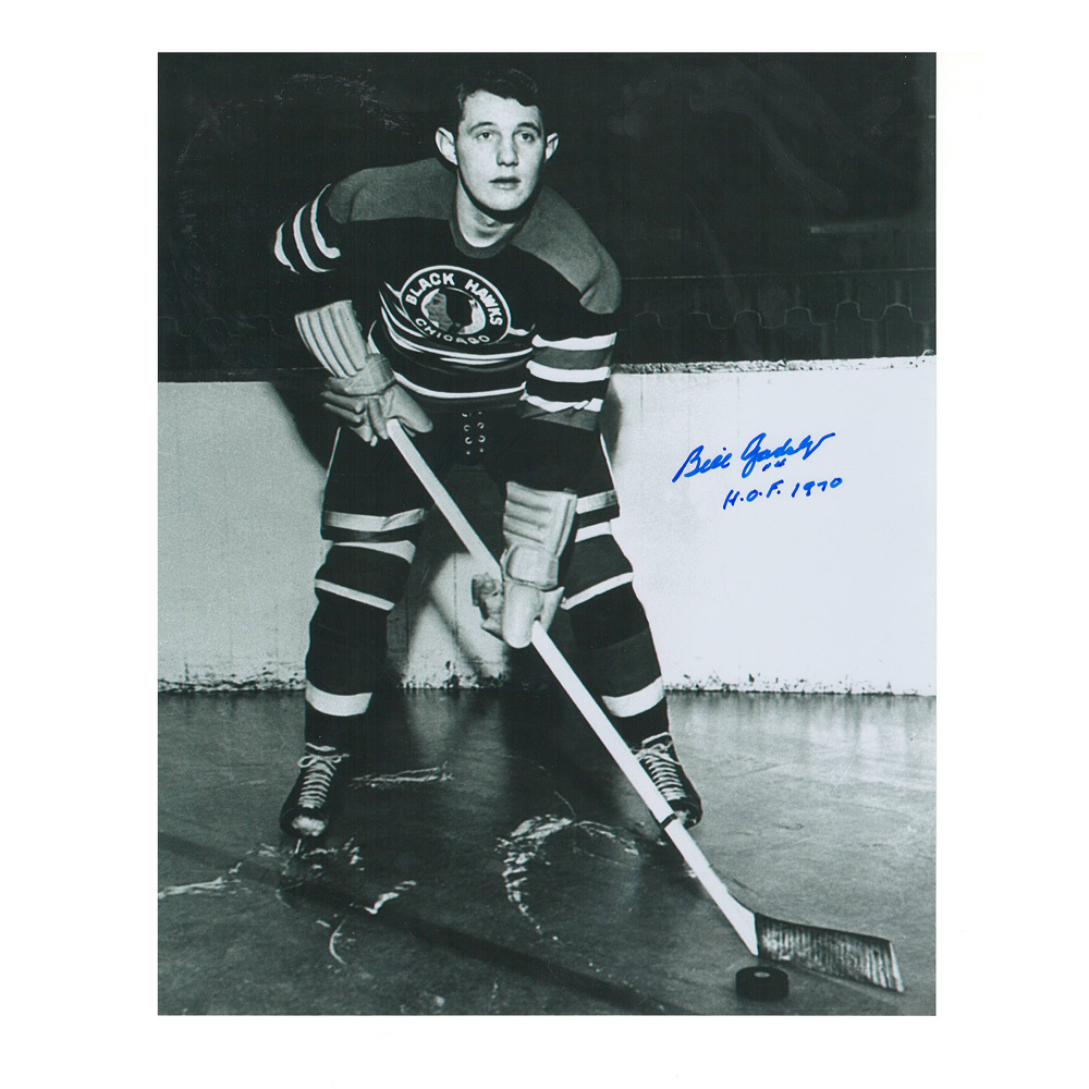 BILL GADSBY Signed Chicago Blackhawks 8 X 10 Photo - 70484
