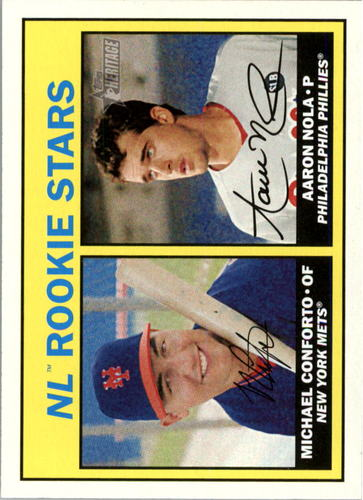 Photo of 2016 Topps Heritage #181A Michael Conforto /Aaron Nola Rookie cards