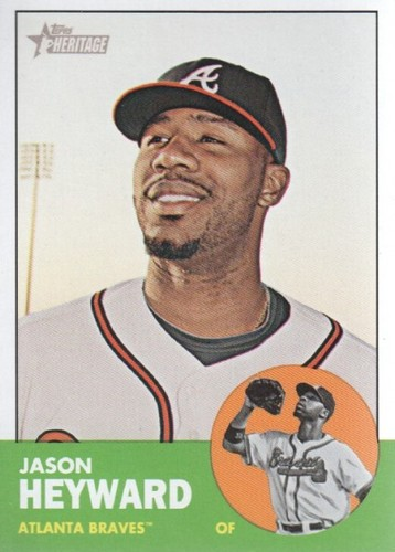 Photo of 2012 Topps Heritage #390 Jason Heyward Cubs post-season