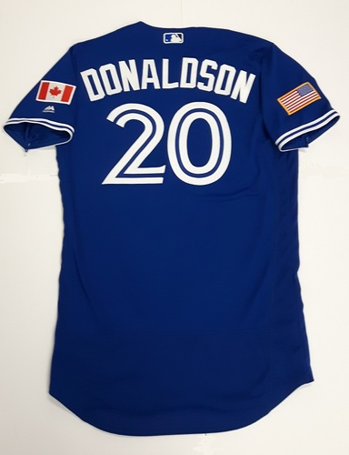 Photo of Authenticated Team Issued 2018 Independence Day Jersey (July 4, 2018) - #20 Josh Donaldson. Size 44.
