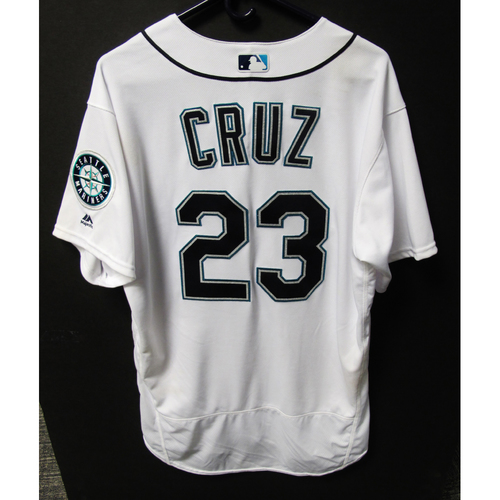 Photo of Nelson Cruz Game-Used White Jersey - July 5, 2018