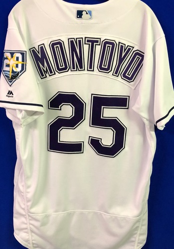 Photo of 20th Anniversary Game Used Devil Rays Jersey: Charlie Montoyo - September 8 v BAL