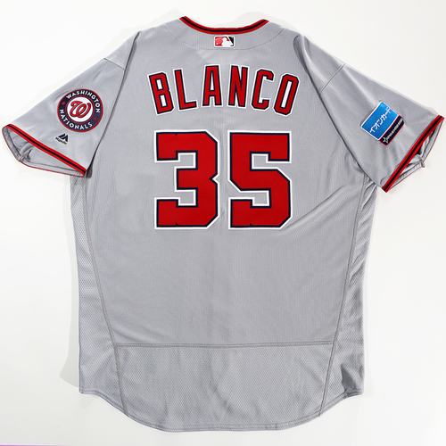 Photo of 2018 Japan Series Game-Used Jersey - Henry Blanco - Size 52